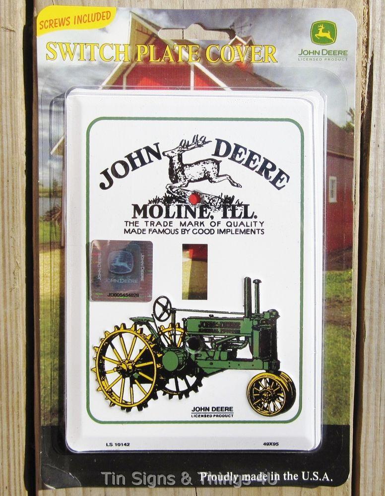 John Deere Light Switch PLATE COVER antique/vtg tractor ad ...