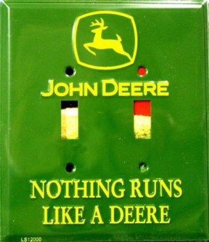John Deere Green Light Switch Covers (double) Plates LS12000