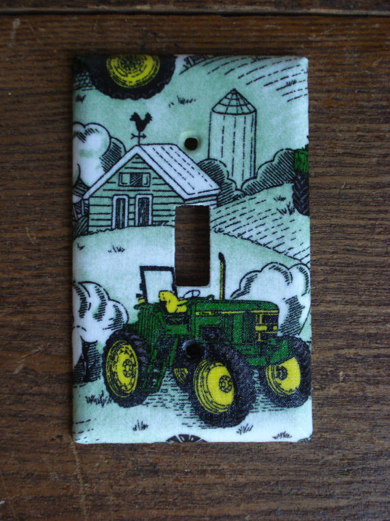 Items similar to John Deere Tractor Light Switch Cover on Etsy