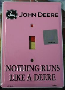 PINK John Deere Light Switch Plate Cover Country Farm ...