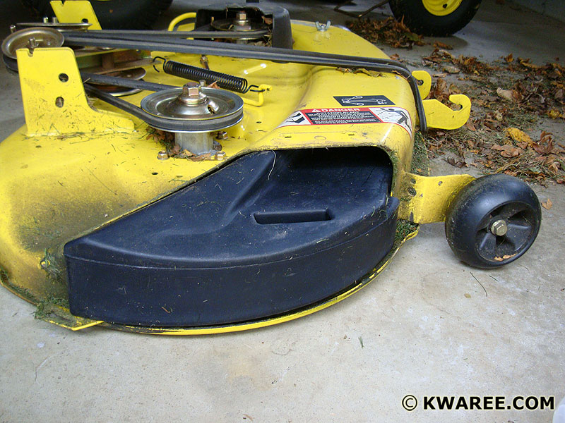 John Deere X300 Mulching Kit