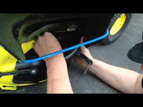 How to install a mulch cover on a John Deere D125 lawn ...
