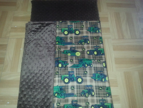 John Deere Kinder Mat/ Nap Mat cover With attached by ...