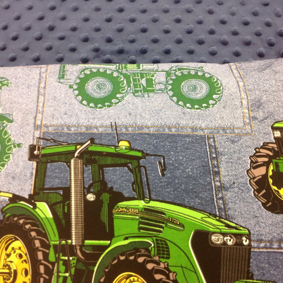 Nap Mat KinderMat Cot Cover Daydreamer John Deere Tractor with
