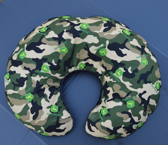 John Deere Camo Print Nursing Pillow Cover by DeltownCreations