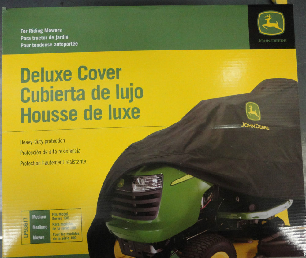 JOHN DEERE Medium Deluxe Lawn Mower Cover LP93617 100 and ...