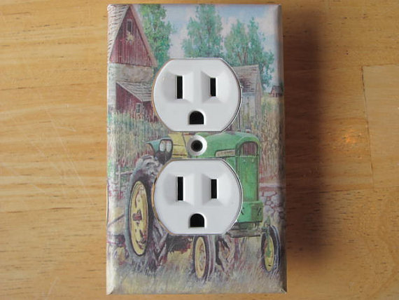 John Deere Tractor Plug Outlet Cover Home by PhotosByBen ...