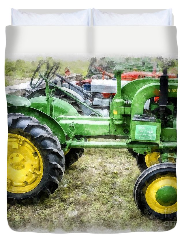 1946 Vintage John Deere Tractor Duvet Cover for Sale by ...