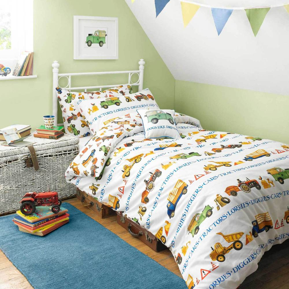 MEN AT WORK by Emma Bridgewater - Boys Bedding Trucks ...