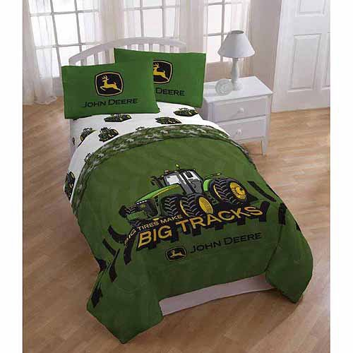John Deere 5pc Full Comforter and Sheet Set Bedding ...