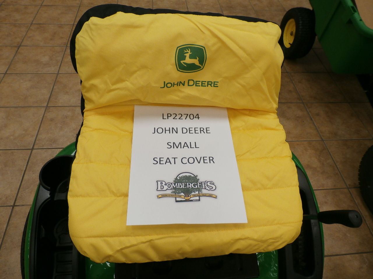 John Deere small seat cover 11 inch LP22704