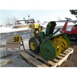 John Deere Model 726 snowblower- needs muffler & cover