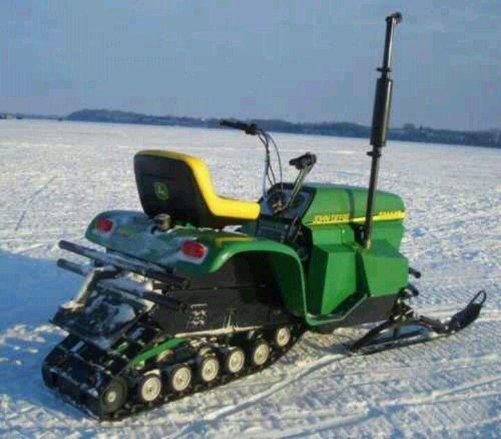 John deere, Powder and Snowmobiles on Pinterest
