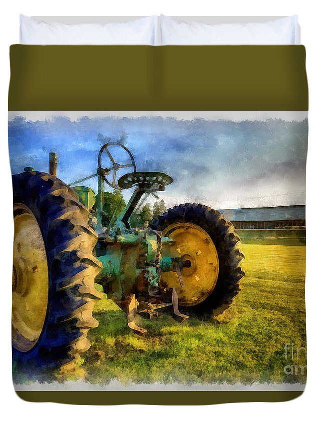 The Old John Deere Tractor Duvet Cover for Sale by Edward ...