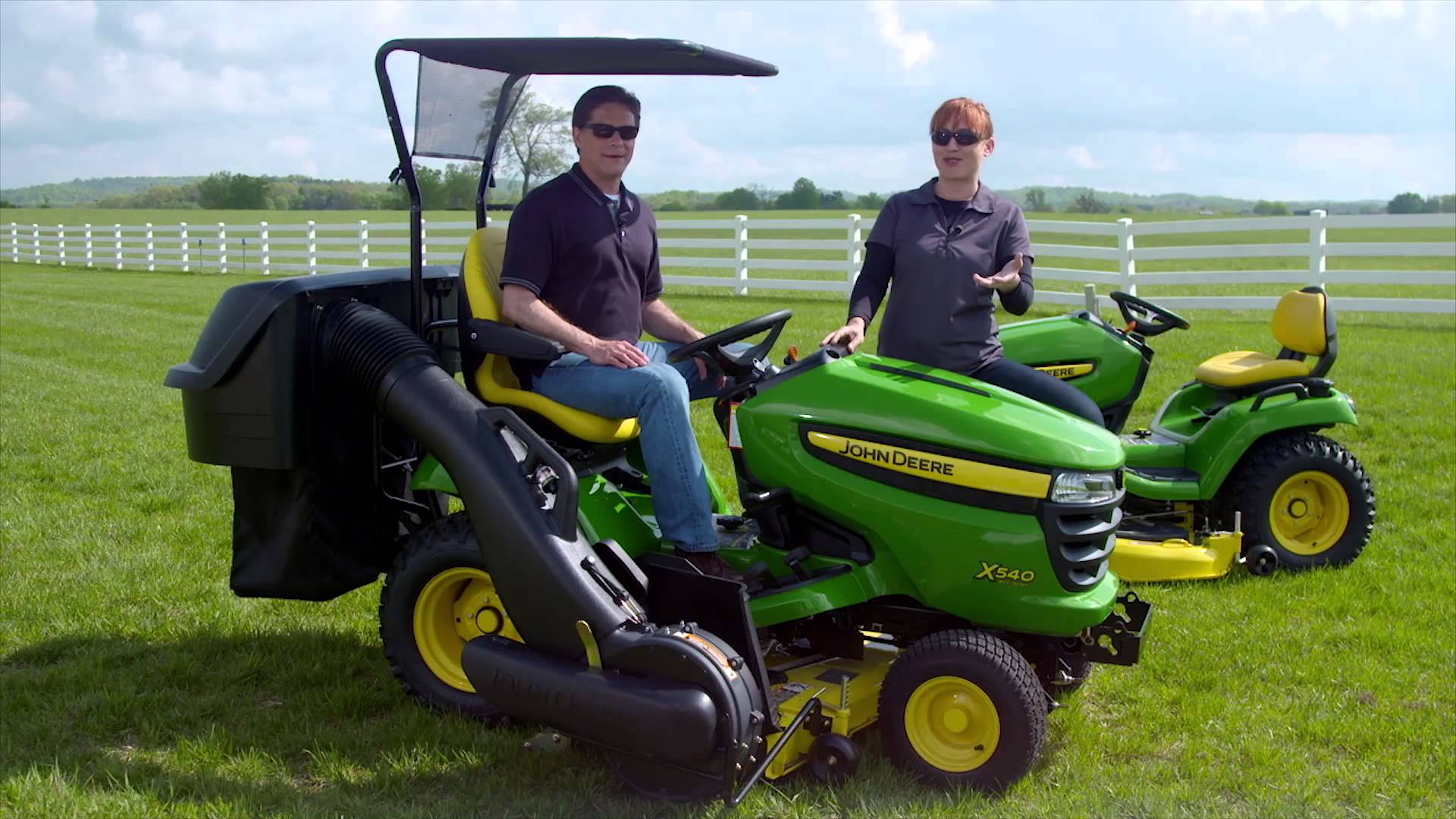 John Deere Riding Lawn Tractor - Attachments - YouTube