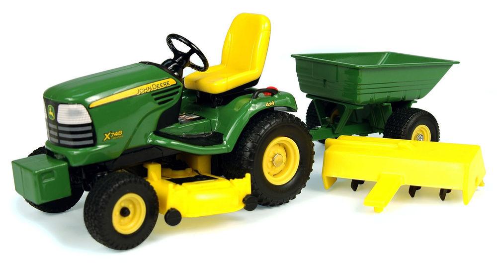 John Deere X748 Lawn Tractor w Attachments 1 16 15989 | eBay