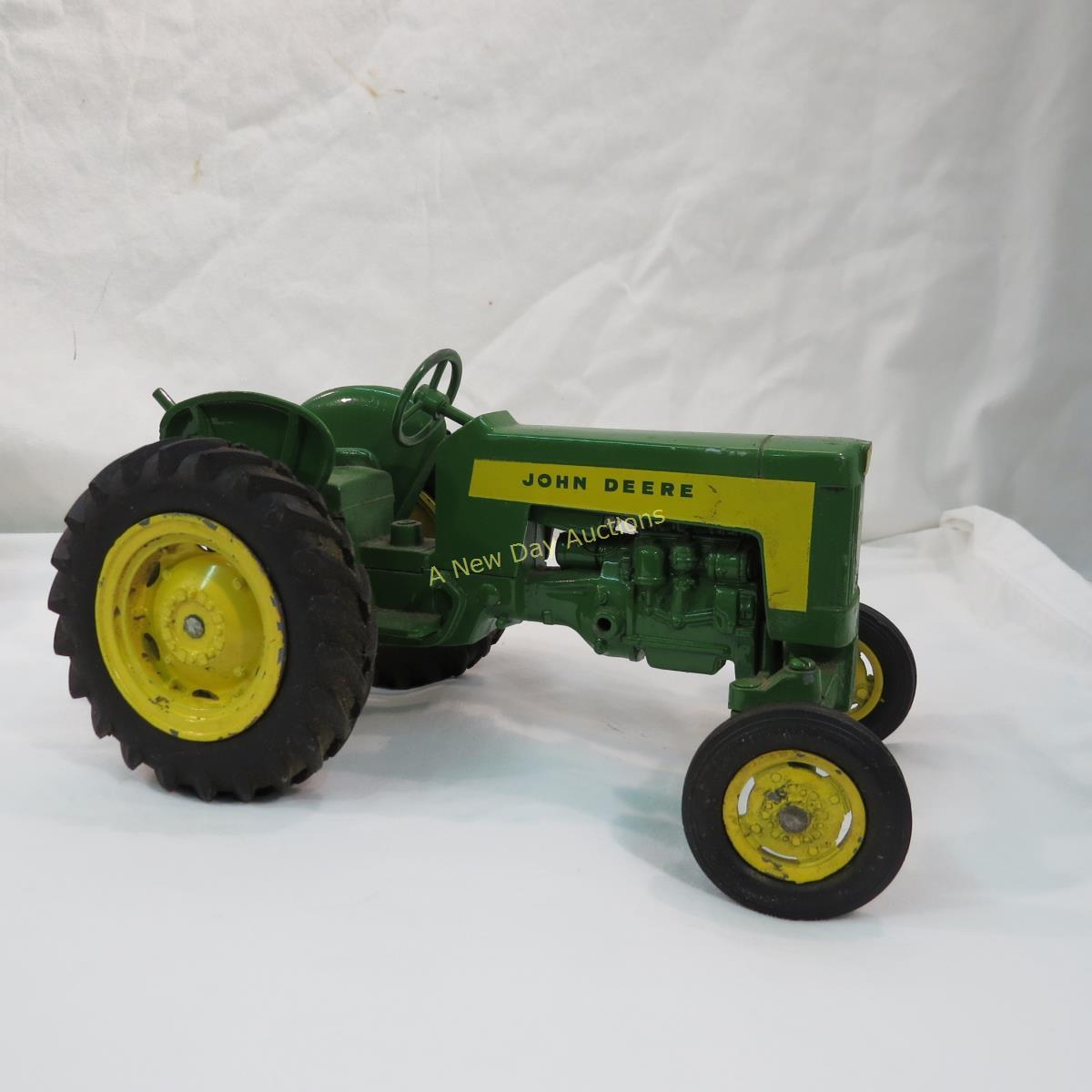 John Deere Toy Tractor with 4 Implements