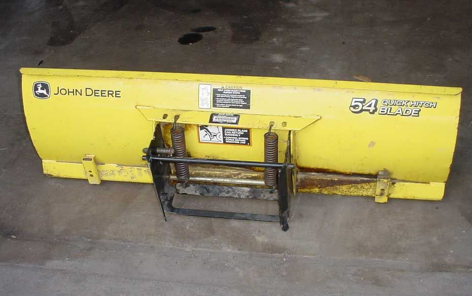 John Deere 54 Quick Hitch Front Blade for 425 445 455 on ...