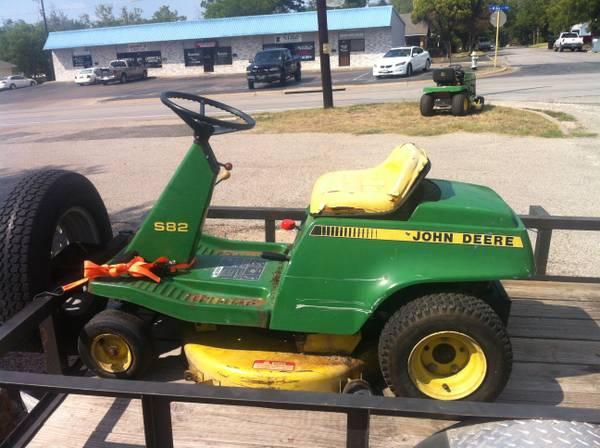 John deere s82 riding mower for sale
