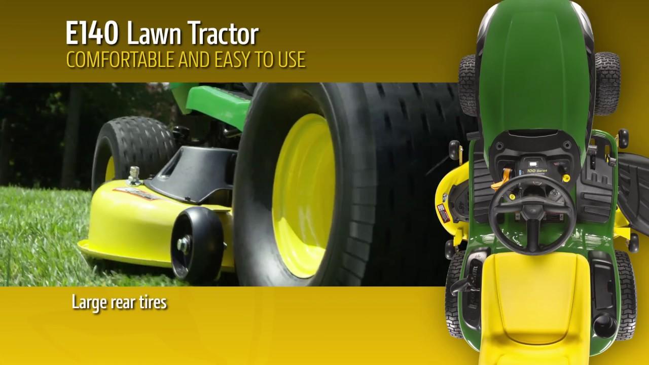 John Deere E140 Lawn Tractor - YouTube