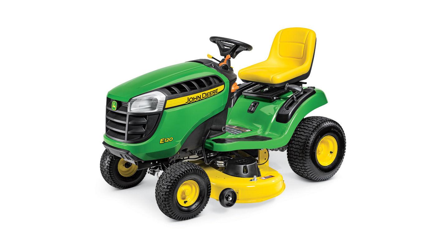 John Deere E120 Lawn Tractor - Van Wall Equipment