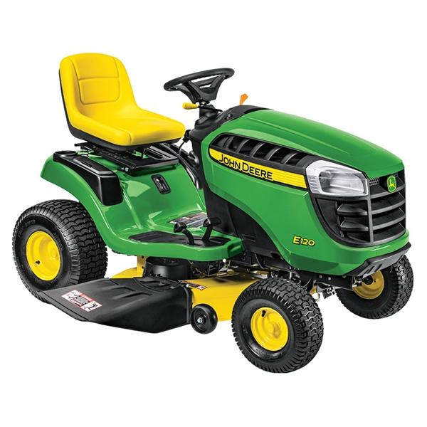 John Deere E120 Lawn Tractor Quick Walk Thru - YouTube