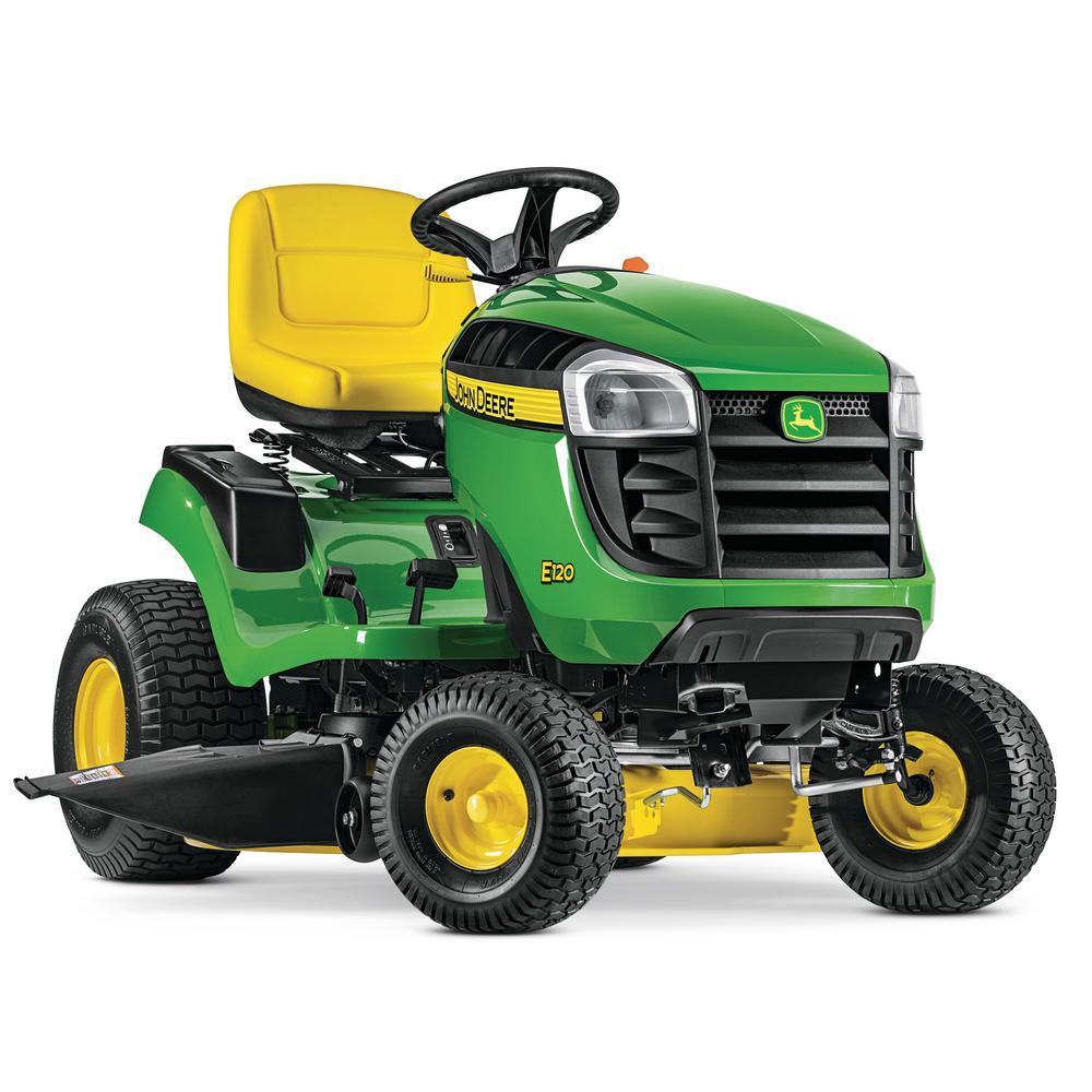 John Deere E120 42 in. 20 HP V-Twin Gas Hydrostatic Lawn ...