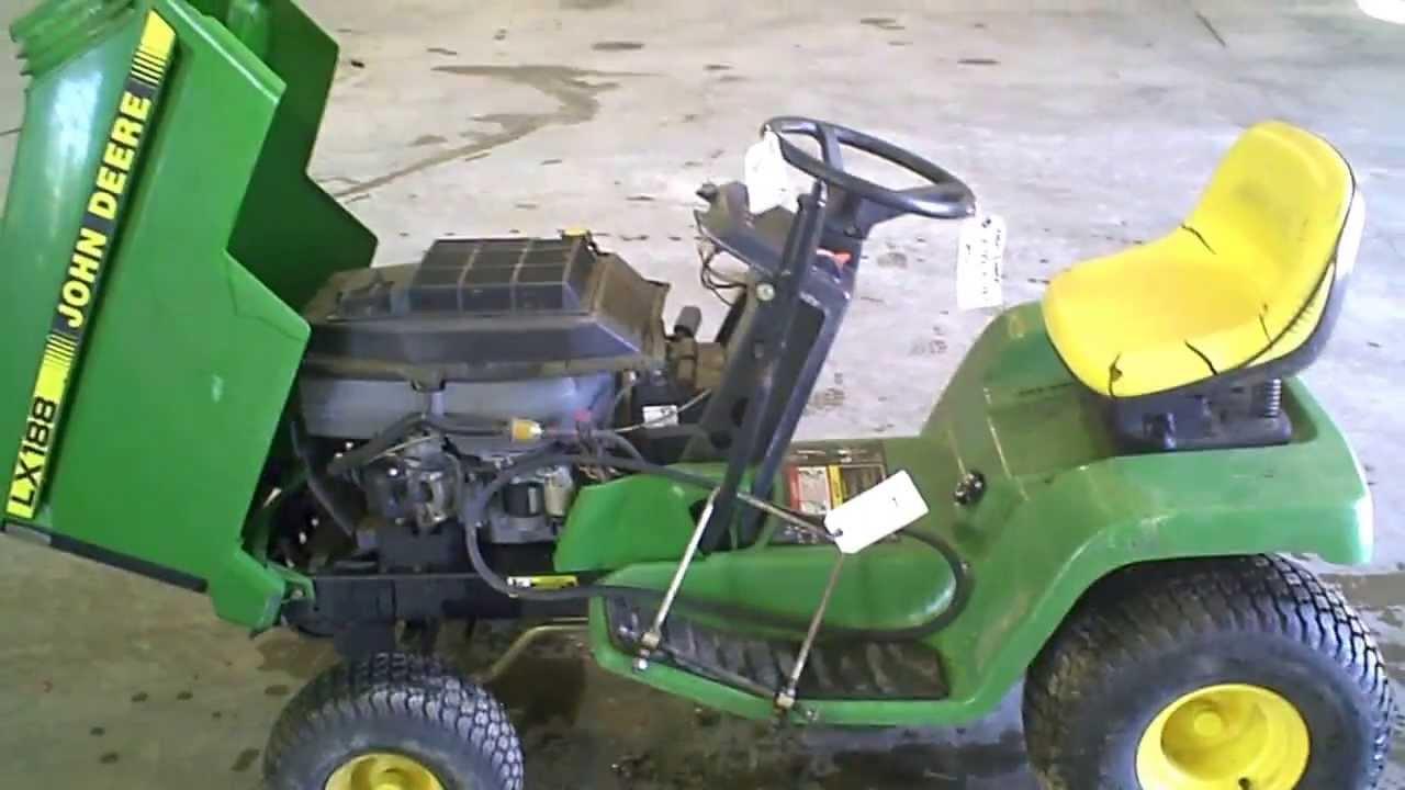 LOT 1557A John Deere LX188 Lawn Mower Running - YouTube