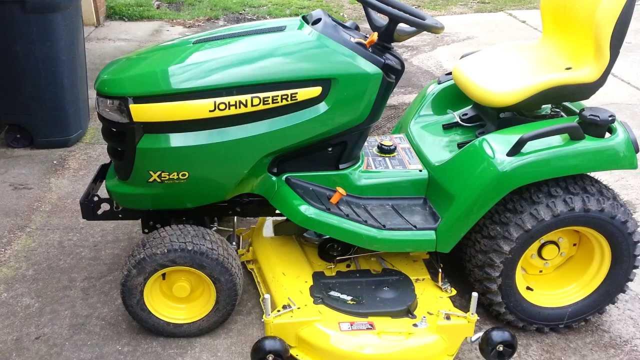 New John Deere X540 - YouTube