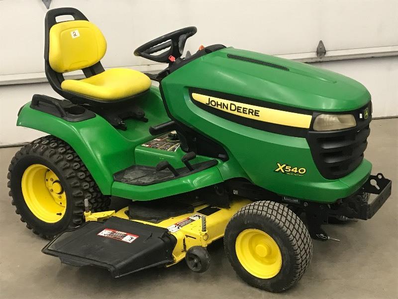 John Deere X540 Tractor | August Lawn Equipment | K-BID