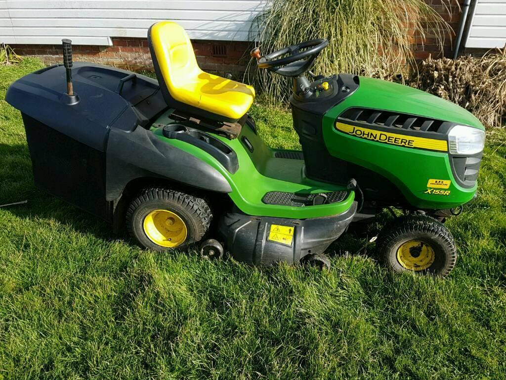 John deere x155r ride on mower grass cutter, not kubota ...