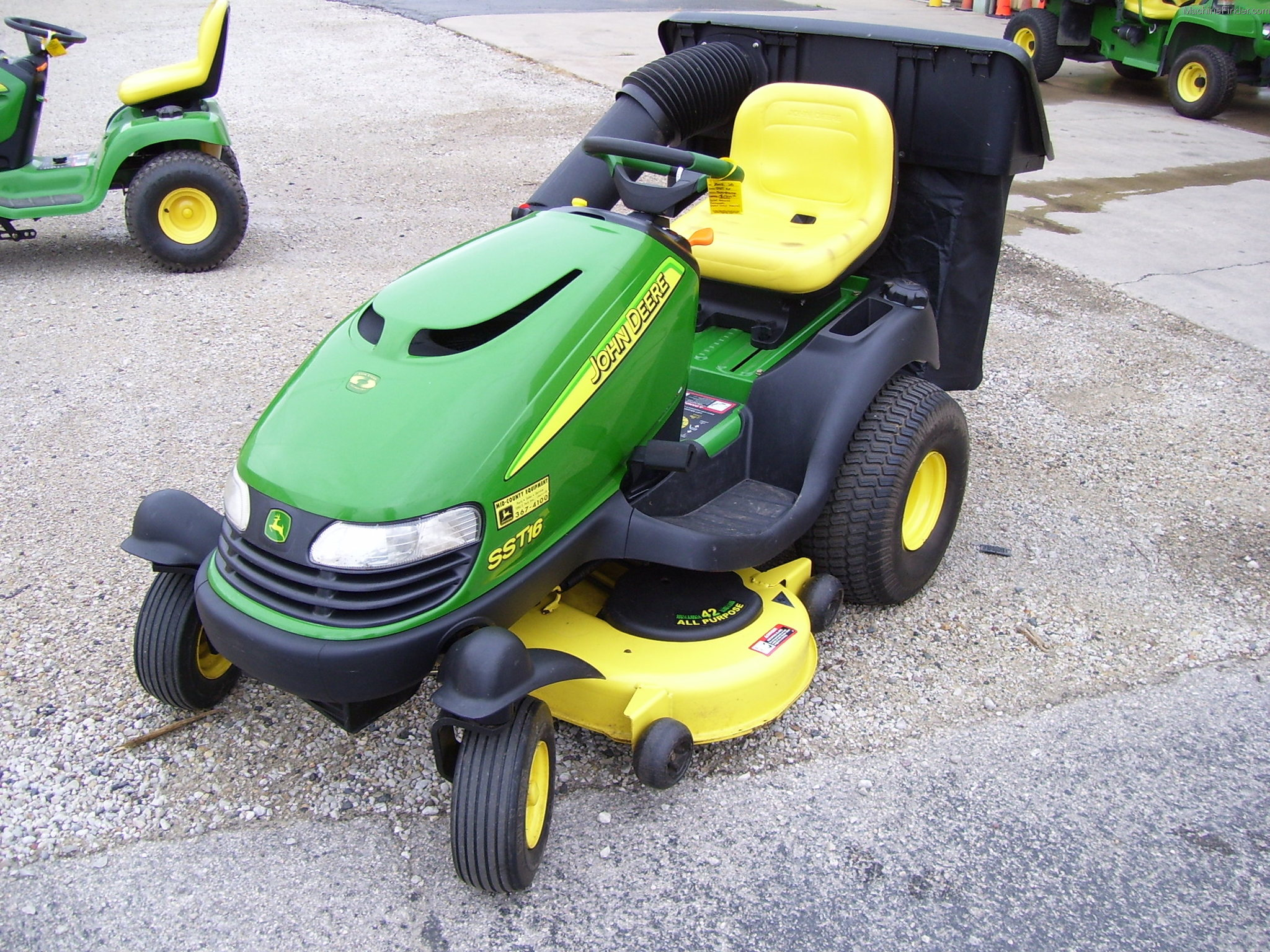 2002 John Deere SST16 Lawn & Garden and Commercial Mowing ...