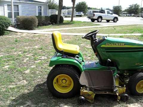 2005 John Deere GT245 Lawn Tractor 20 HP V-twin - YouTube
