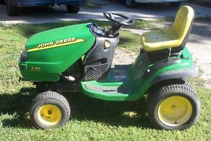 John Deere L130 Lawn Tractor 23 HP 48 Mower Deck   eBay