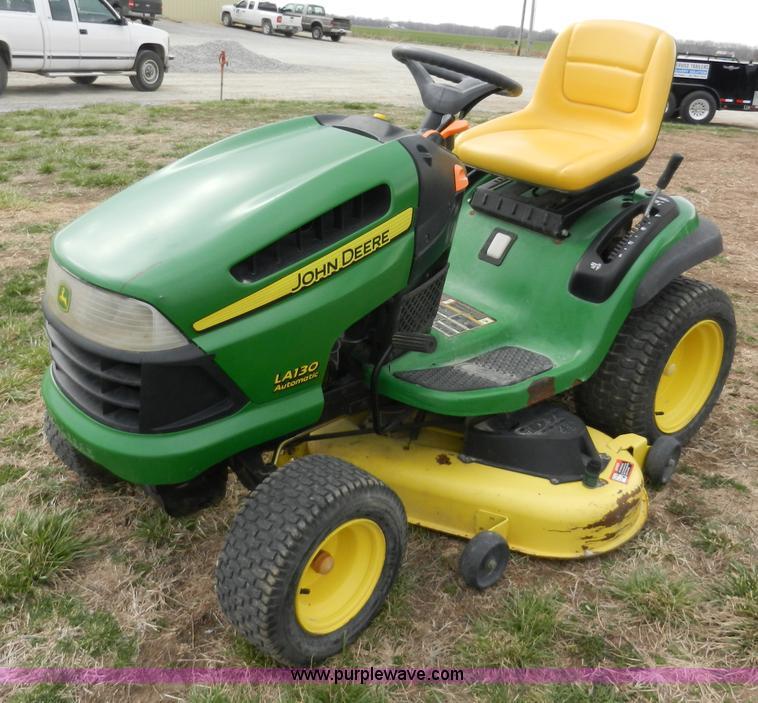 John Deere LA130 lawn mower   no-reserve auction on ...