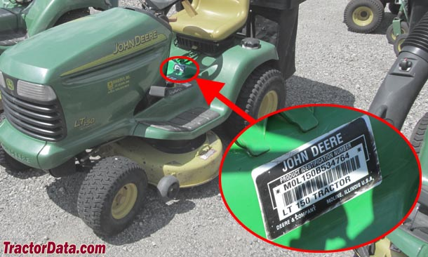 Ready to Mow John Deere LT150 Lawn Tractor Good Hood 15 HP ...