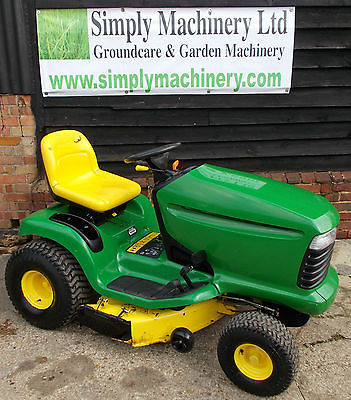 John Deere Lt160 Ride On Mower Sit On Lawn Garden Tractor ...