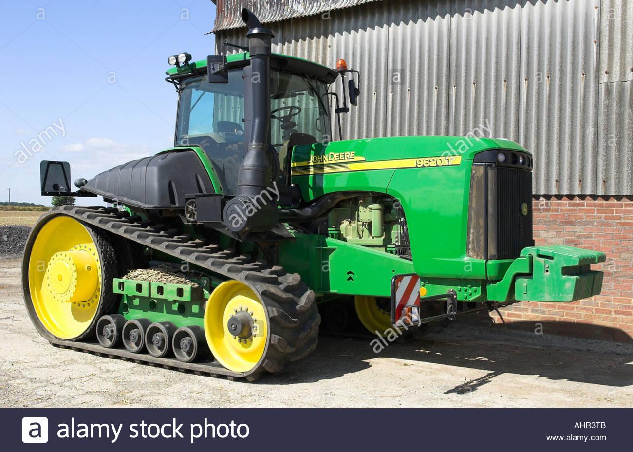 John Deere 9620T track tractor. (500hp Stock Photo ...