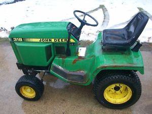 John Deere 318 Garden Tractor 18 HP Attachments Available ...