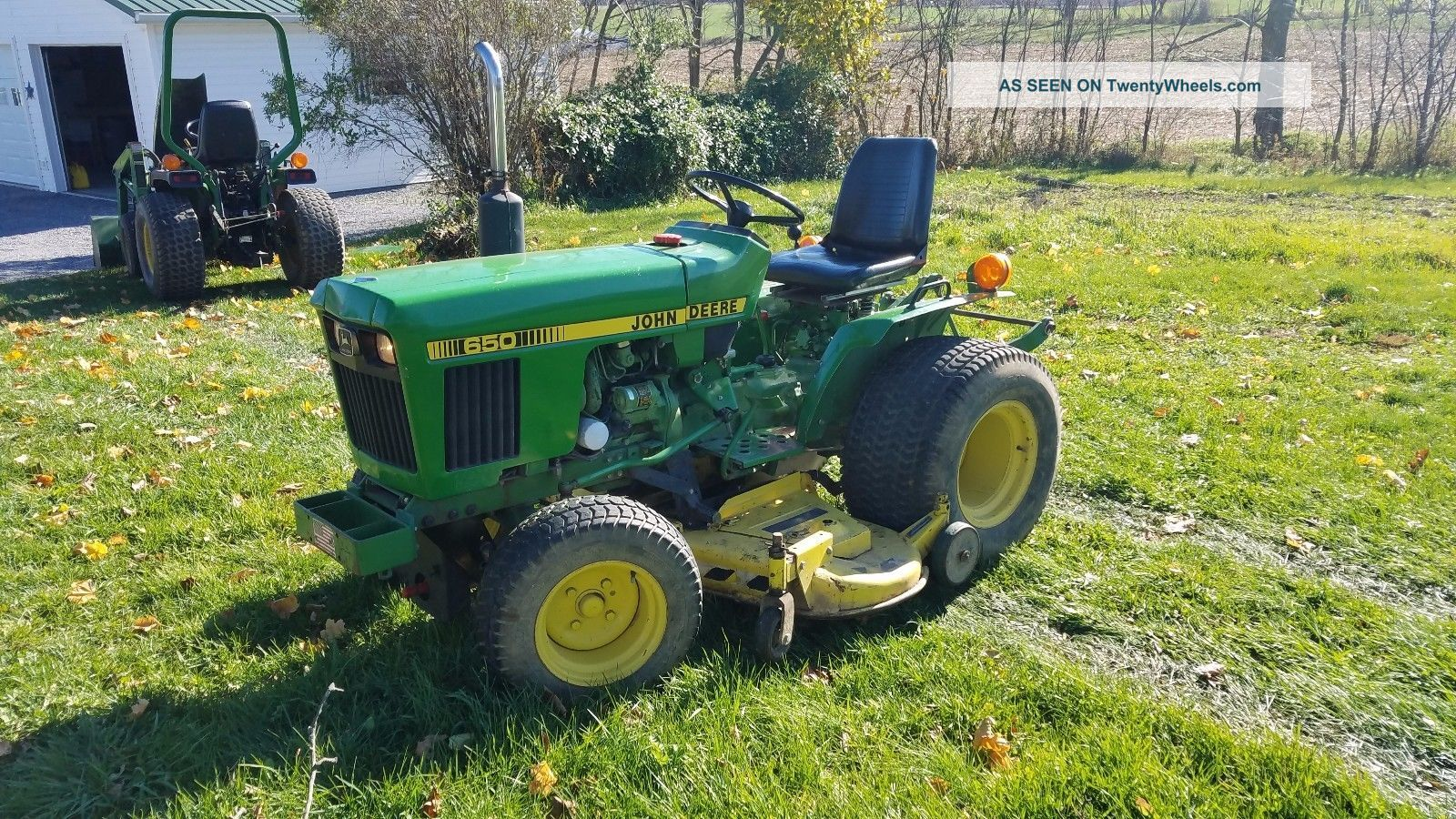 1984 John Deere 650 Garden Tractor Lawn Mower Diesel 16hp ...