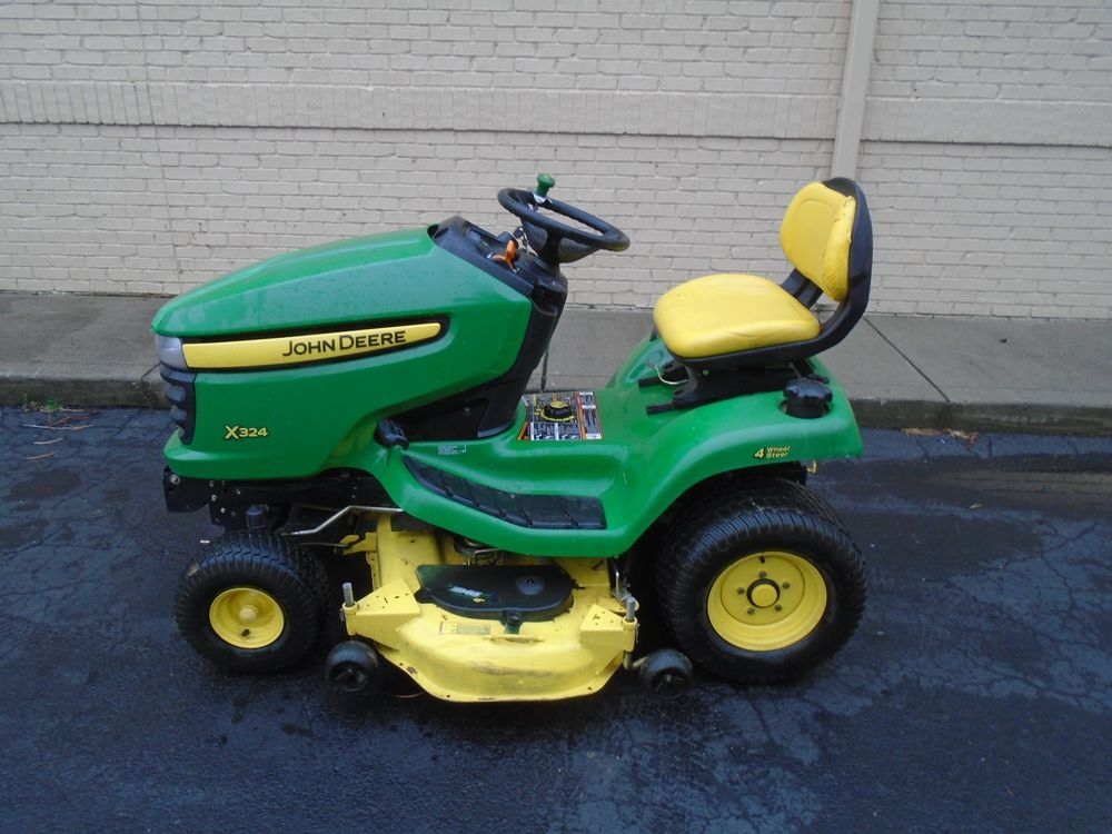2009 JOHN DEERE X324 RIDING LAWN MOWER 48