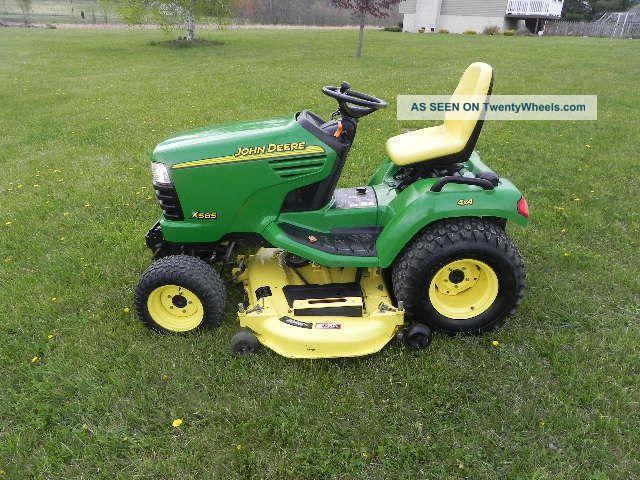 John Deere X585 Lawn And Garden Tractor Lawn Mower 4x4 ...