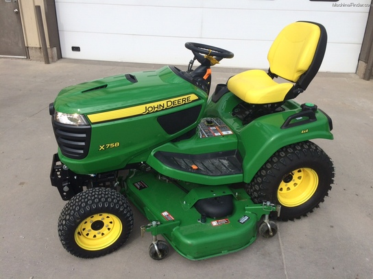 2014 John Deere X758 Lawn & Garden and Commercial Mowing ...