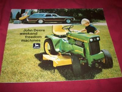 1971 John Deere 70 110 112 140 Lawn Tractor Brochure 55 56 ...