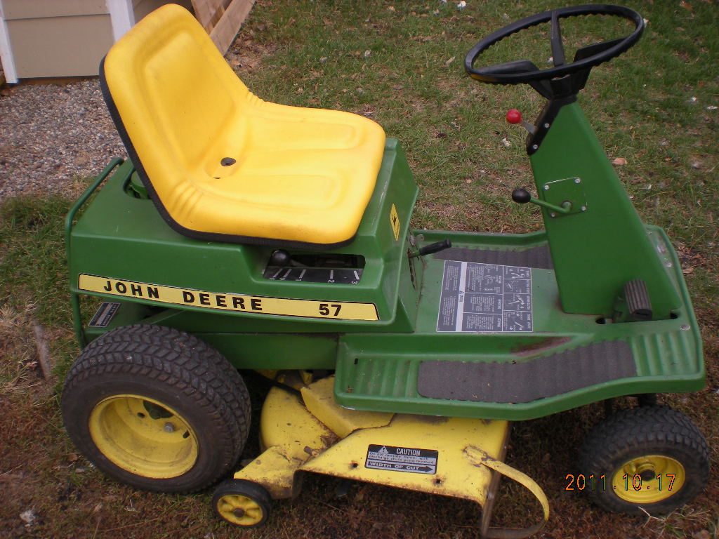 JD Model 57 Riding Mower | Old Green Tractors