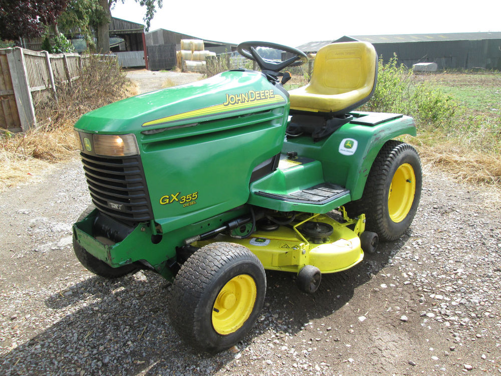 JOHN DEERE GX355 DIESEL COMPACT LAWN TRACTOR RIDE ON MOWER ...
