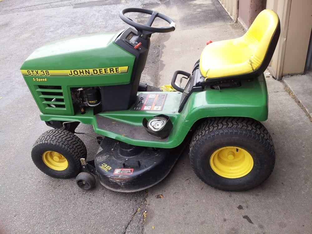 John Deere STX38 Lawn Tractor | eBay