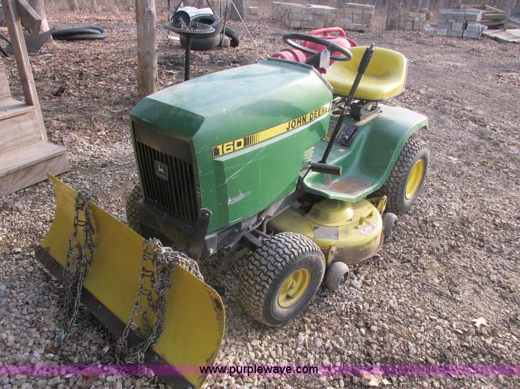 John Deere 160 mower   no-reserve auction on Wednesday ...