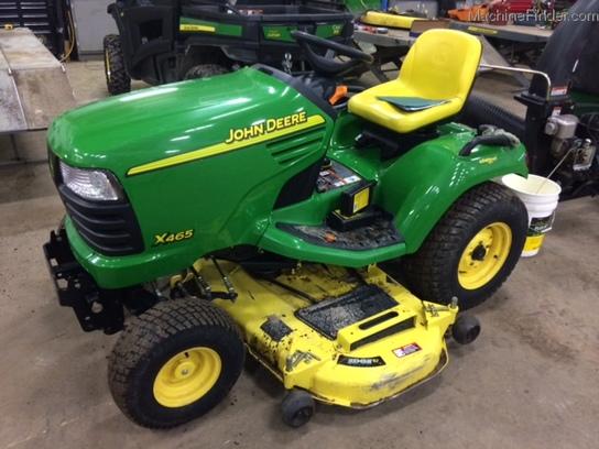 John Deere X465 tractor information