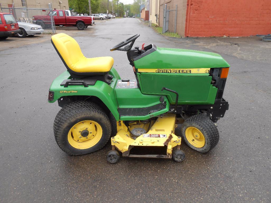 John Deere 425 AWS Garden Tractor Lawn Mower. Runs. | More ...